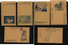 France   5  different  WW1  military  cards   unused              MS0318
