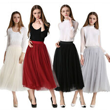 Multi layer Tulle maxi long skirt gray Black Spring fashion Princess Tutu Dress
