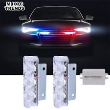 2Pcs Luces Freno De Coche Estroboscópica Policía LED Intermitente De Advertencia