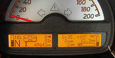 Bordcomputer smart fortwo 451 Benzinverbrauch Originalfarbe amber ab Bj. 2007