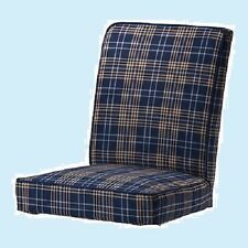 IKEA Henriksdal Chair Cover ONLY Rutna Multi-Blue Plaid NEW MultiShipgDiscount