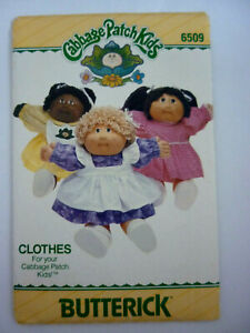 BUTTERICK 6509 SEWING PATTERN~CABBAGE PATCH KIDS CLOTHES~SZ 40.5CM~DRESS PANTIES