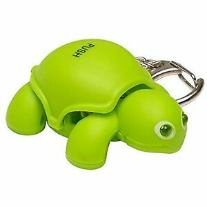 KeyGear Durable Turtle LED Light and Sound Keychain Accessory with Handy Clip
