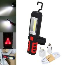 LED COB Inspection Work Light Lamp Flexible Rechargeable Hand Torch Magnetic