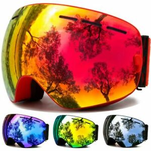 Ski Googles Winter Glasses Snow Sport Anti-Fog Dual Lens UV Protection For Men