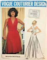 70s Vogue Couturier Design 1192 Evening Dress BRENDA BELLVILLE Pattern & Label