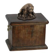 madera Ataúd Staffordshire Terrier CONMEMORATIVO Urna para de perro cenizas, con