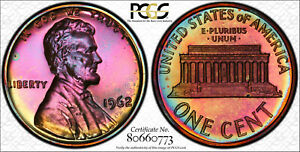 1962 Lincoln Memorial Proof PCGS PR66RB TONED