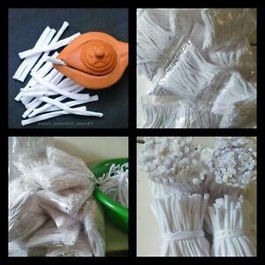 Oil Lamp Long Wicks 150 pcs Candle Burner Ceylon handmade Cotton Puja Item Lamps
