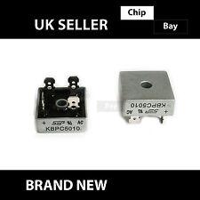 2x KBPC5010 METAL CASE 4 PIN MONOFASE Diodo ponte raddrizzatore 1000V 50 bis