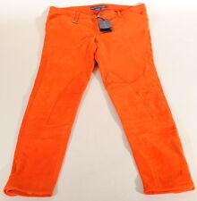 Ralph Lauren Orange Genuine Lamb Suede Skinny Pants Sz 6 28x28 Nwt $1298 C3A