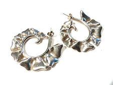 Bijou alliage argenté créoles coeur clous earrings