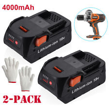2 Pack For RIDGID 4.0Ah 18v Hyper Lithium-Ion Battery R840087 R840085 R840083