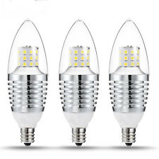 5pcs LED E12 Candelabra Base Light Bulb 7W 110V 6000-6500K Torpedo Shape Bulbs