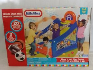 Little Tike Indoor/Outdoor Inflatable Center Ball Pit Basketball Soccer Football