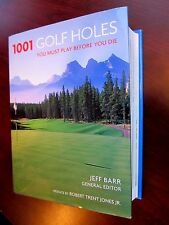 1001 GOLF HOLES Jeff Barr 1st Ed 2005 and TOTAL GOLF 2001 TWO BRAND NEW Books HC