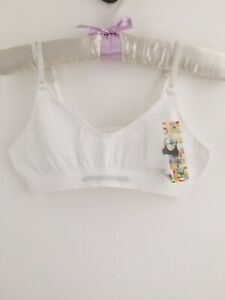 Bundle Of 3 Seamless Cotton Bra Tops Petite 6-8 BNWT White Great Gift!
