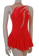 Skating Dress - RED LYCRA / BODYSTOCKING - SO97c  N/S