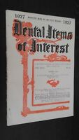 Revista Dental Items de Interes N º 4 Abril 1927 ABE
