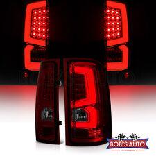 [New] 07-13 GMC Sierra 1500 2500 3500 Dark Smoke High Power LED Tube Tail Lights