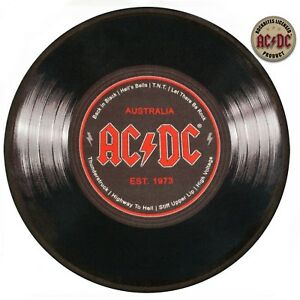 Foot Mats/Carpet - AC/Dc - Gramophone Record (Round, Diameter 23 5/8in) 100867