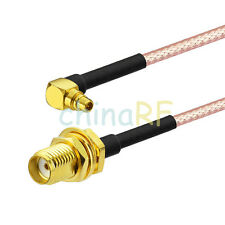 SMA jack bulkhead to MMCX plug male right angle pigtail cable RG316 for Wireless
