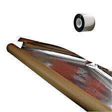 Aluminiumfolie 30qm robuste Alufolie Dampfsperre für Saunabau Sauna Klebeband