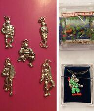 RARE! TMNT Turtles Charm Keychain Pendants-Vintage Mirage-Tortues Ninja/FRENCH