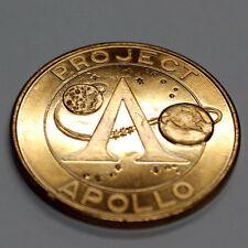 Apollo XI  Project Apollo Commemorative  GOLD TONED BRONZE  UNC ALDRIN NEIL BUZZ