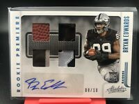 2020 Panini Absolute Bryan Edwards RPA Rookie Premiere 4 Patch SSP To /10 Raider