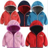 1pc kids girls boys autumn warm fleece coat jacket hoodie outerwear kids Jackets