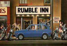 David Mann Art Motorcycle Poster Biker Print Rumble Inn