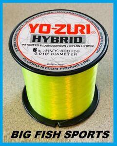 YO-ZURI HYBRID Fluorocarbon Fishing Line 6lb/600yd HIVIS NEW! FREE USA SHIP!