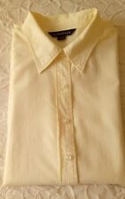 Lands End, Short Sleeve Shirt. Small 6-8 in Yellow & White Stripe