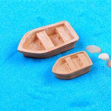 New listing Pop Garden Ornament Mini Boat Ocean Beach Aegean Sea Resin Fairy house Decor Kw