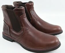 CAT Men's ARMITAGE Genuine Leather Chelsea Boots, Coffee Bean, UK 9 EU 43 WIDE