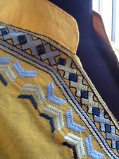 Ladies Embroidered Yellow Tunic - Large