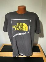 Mens The North Face Extreme S/S Crewneck T-Shirt Size Large (L) Gray - Cotton