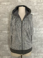 Patagonia Size L Gray Fleece Full Zip Hoodie Vest Side Pockets Fully Lined