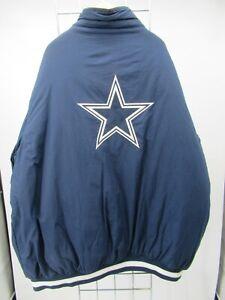 H2096 REEBOK Dallas Cowboys  Football-NFL Windbreaker Bomber Jacket Size 2XL
