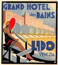 "02064 ""GRAND HOTEL DES BAINS - VENEZIA LIDO"" ETICH. ORIG."