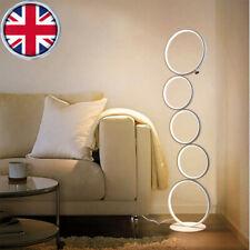 Modern Floor Lamp LED Dimmable Five-Ring Floor Light 3 Brightness Levels New UK
