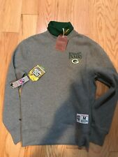Mitchell Ness NFL Green Bay Packers Sweater Shirt Size M BNWT 100 Season Rare