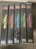 Addams Family 1-5 SEALED Video Inside Cases. See Photos For One Bit Of Case Dam*