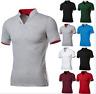 Men's Stylish Casual T-Shirts Slim Fit Short Sleeve POL Shirt  Short Sleeve Tops