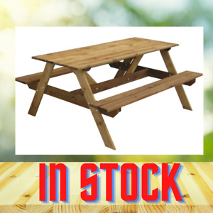 Picnic PUB Table and Bench Set Wooden Outdoor 160x71H cm wholesale 6 SEATS