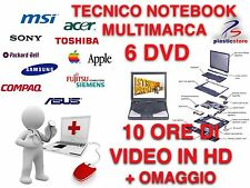 Notebook Repair Riparare Notebook Service 6 DVD Corso 10h Tecnico Computer