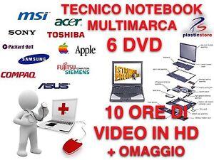 Notebook Repair Riparare Notebook Service 6 DVD Corso 10h Tecnico Computer
