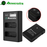 EN-EL14a Battery + LCD USB Dual Charger for Nikon D5300 D5200 D5100 D3100 D3200