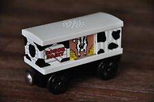 THOMAS TANK Wooden RAILWAY Carriage COW BOX CAR - sounds - Excellent
